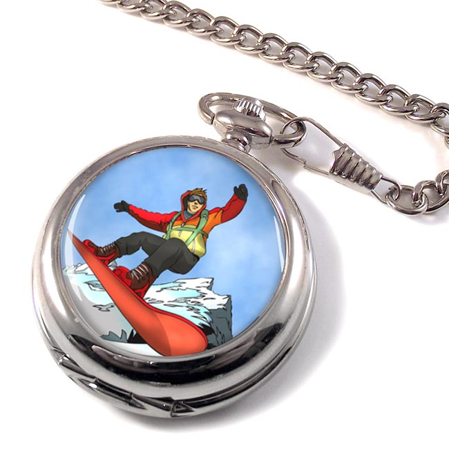 Snowboard Pocket Watch