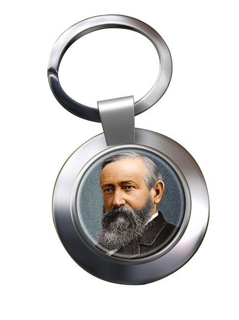 President Benjamin Harrison Chrome Key Ring