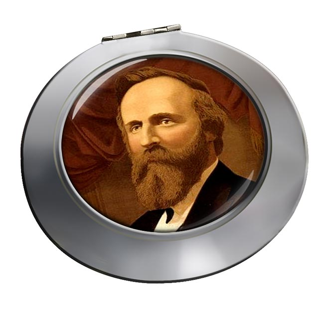 President Rutherford Hayes Chrome Mirror