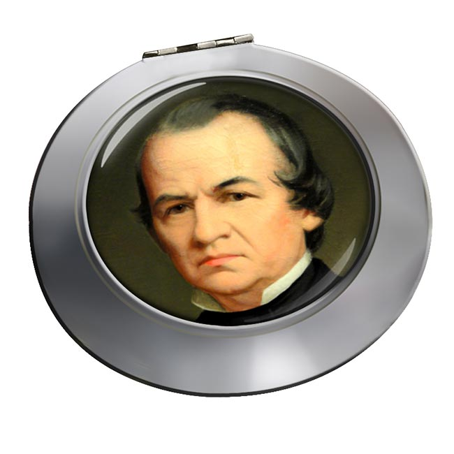 President Andrew Johnson Chrome Mirror