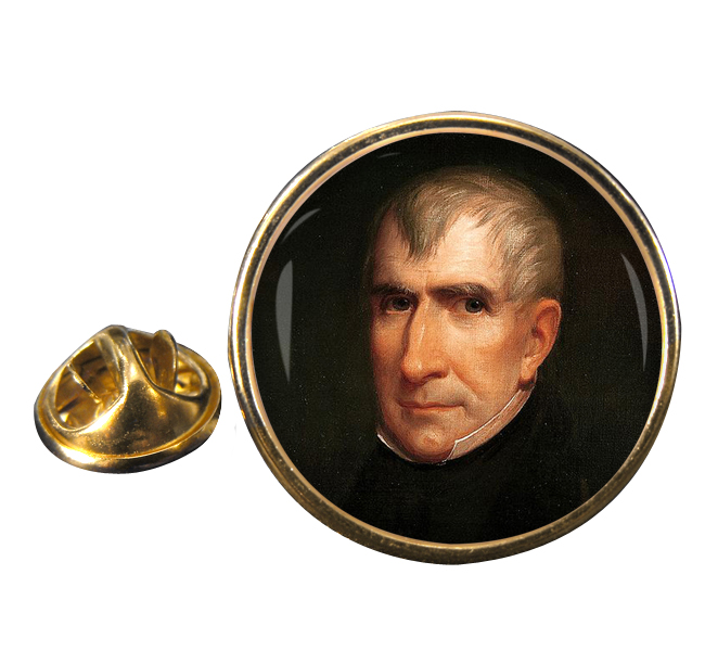 President William Henry Harrison Round Pin Badge