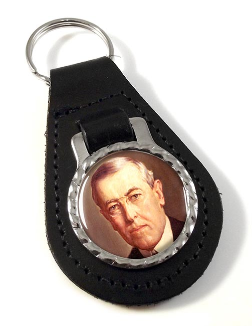 President Woodrow Wilson Leather Key Fob