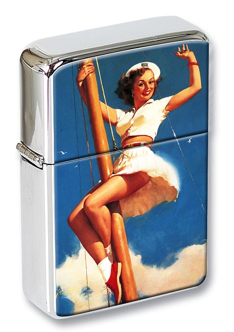 Anchors Awow Pin-up Girl Flip Top Lighter