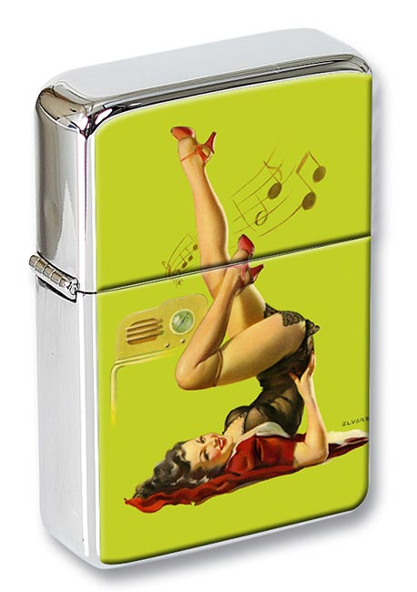 Station Wow Pin-up Girl Flip Top Lighter