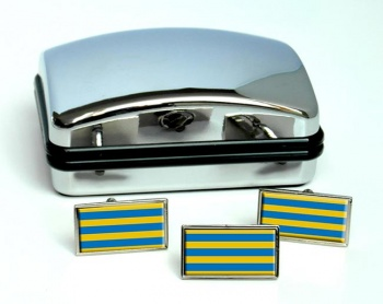 Las Condes (Chile) Flag Cufflink and Tie Pin Set
