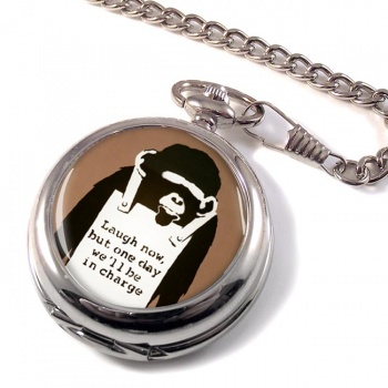 Laugh Now by Banksy Pocket Watch