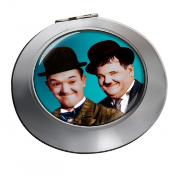 Laurel and Hardy Chrome Mirror