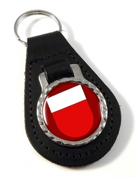Lausanne (Switzerland) Leather Key Fob