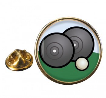 Lawn Bowls Round Pin Badge