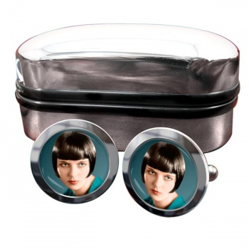 Louise Brooks Round Cufflinks
