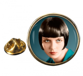 Louise Brooks Round Pin Badge