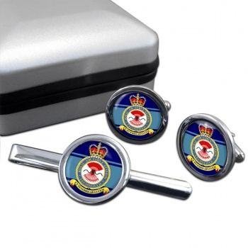 Leconfield Round Cufflink and Tie Clip Set