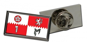 Leicestershire (England) Flag Pin Badge