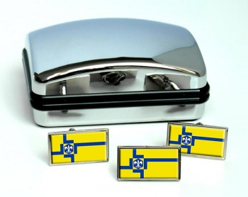 Lelystad (Netherlands) Flag Cufflink and Tie Pin Set