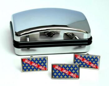 La Marche (France) Flag Cufflink and Tie Pin Set