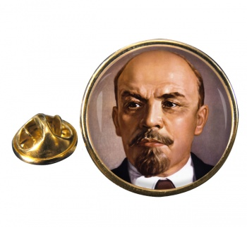 Vladimir Lenin Round Pin Badge