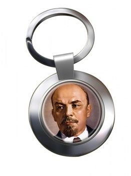 Vladimir Lenin Chrome Key Ring