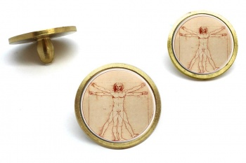 Vitruvian Man by Leonardo Da Vinci Golf Ball Marker Set