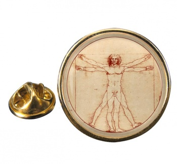 Vitruvian Man by Leonardo Da Vinci Pin Badge