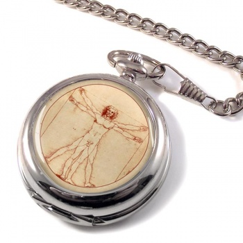 Vitruvian Man by Leonardo Da Vinci Pocket Watch