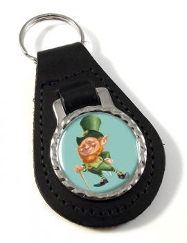 Leprechaun Leather Key Fob