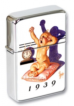 1939  a New Year Dawning by Leyendecker Flip Top Lighter