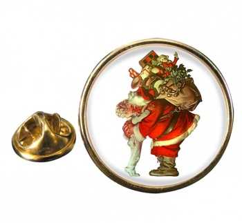 Christmas by Leyendecker Pin Badge