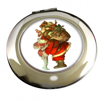 Christmas by Leyendecker Round Mirror