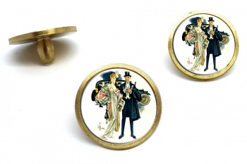 High Society by J.C. Leyendecker Golf Ball Marker Set