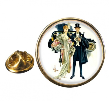 High Society by J.C. Leyendecker Pin Badge