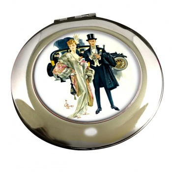 High Society by J.C. Leyendecker Round Mirror