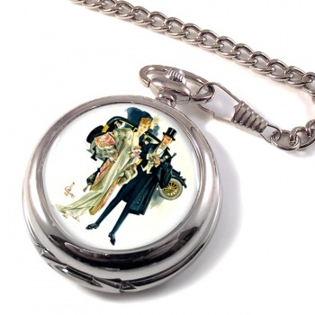 High Society by J.C. Leyendecker Pocket Watch