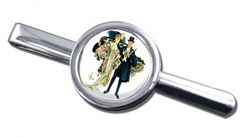 High Society by J.C. Leyendecker Round Tie Clip