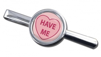 Love Heart Have Me Round Tie Clip