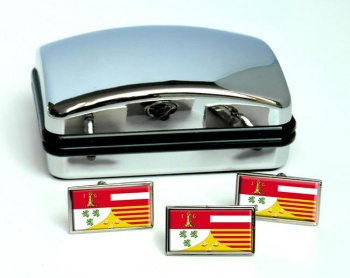 Liege (Belgium) Flag Cufflink and Tie Pin Set
