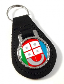 Liguria (Italy) Leather Key Fob