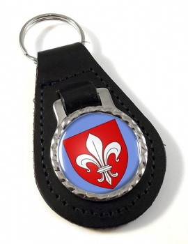 Lille (France) Leather Key Fob