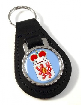 Limburg (Belgium) Leather Key Fob