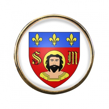 Limoges (France) Round Pin Badge