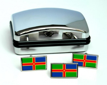 Lincolnshire (England) Flag Cufflink and Tie Pin Set