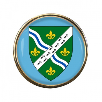 Lincolnshire (England) Round Pin Badge