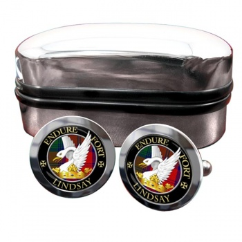 Lindsay Scottish Clan Round Cufflinks