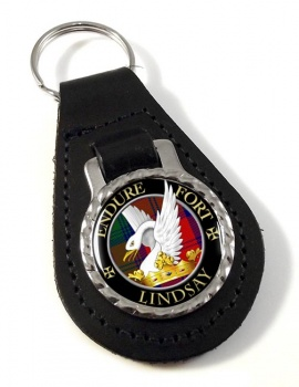 Lindsay Scottish Clan Leather Key Fob