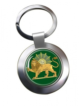 Lion and the Sun Iran Metal Key Ring