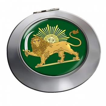 Lion and the Sun Iran Round Mirror