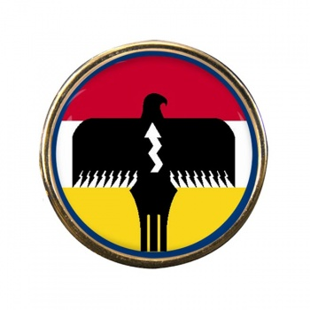 Lipan Apache Nation (Tribe) Round Pin Badge