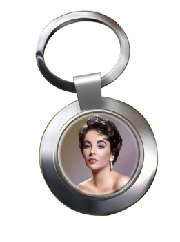 Elizabeth Taylor Chrome Key Ring