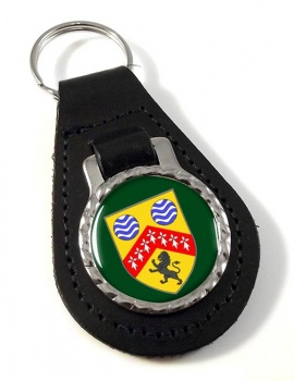 County Laois (Ireland) Leather Key Fob