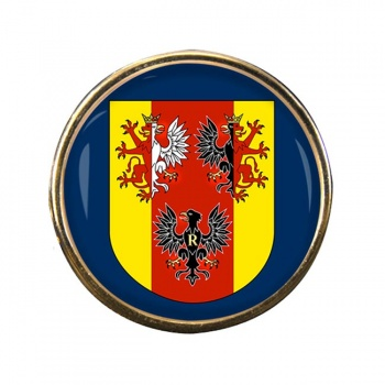 Lodzkie (Poland) Round Pin Badge