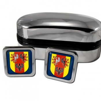 Lodzkie Poland Square Cufflinks